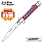 Ridge Runner Stiletto Rebel Flag Folding Knife - BOGO