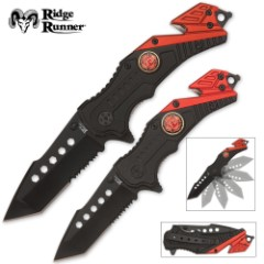 Assisted Opening Rescue Knife Set Firefighter