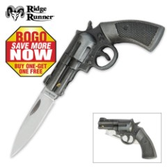 Ridge Runner® Revolver Pistol Folder 2 for 1