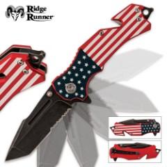 American Flag Folding Pocket Knife