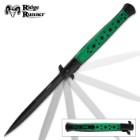Ridge Runner Speed Demon Green Stiletto Knife