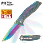 Ridge Runner Rainbow Two-Tone Pocket Knife - BOGO