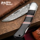 Ridge Runner Racer Lockback Pocket Knife - 3Cr13 Stainless Steel Blade, Damascus Pattern, Pakkawood Handle, Stainless Steel Bolster