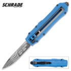 "Schrade OTF Special Blue ""These Colors Don't Run"" Assisted Opening Pocket Knife"
