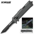 Schrade Viper OTF Assisted Opening Pocket Knife Tanto Point Serrated