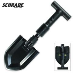 Schrade Carbon Steel Telescoping Folding Shovel With Sheath