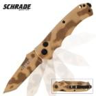 Schrade Desert Camo Tanto Blade Pocket Knife