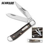 Schrade Imperial Red Swirl Trapper Pocket Knife