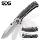 SOG Sideswipe Mini Grey Tini Pocket Knife