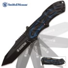 Smith & Wesson Black Ops Blue Tanto Tactical Pocket Knife