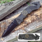 Timber Wolf Assist Rescue Black Folding Knife
