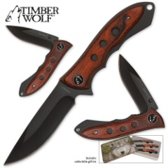 Timber Wolf Grizzly Outdoor Set in Tin