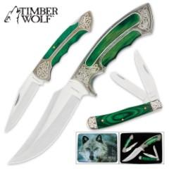 Timber Wolf Elite Celtic Knife Set