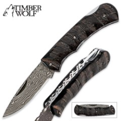 Timber Wolf Legacy Folding Knife Bone
