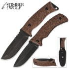 Timber Wolf Snakeskin Two Piece Tactical Knife Set