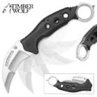 Timber Wolf Satin Finish Karambit Pocket Knife
