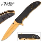 Timber Wolf Golden Wolf Pocket Knife