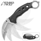 "Timberwolf ""Titanium Crescent"" Karambit Assisted Opening Pocket Knife"