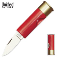 Red Shotgun Shell 12 Gauge Pocket Knife