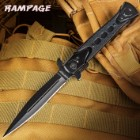 United Cutlery Rampage Assisted Opening Stiletto Black
