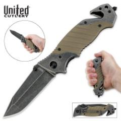 United Cutlery Warpath Folding Rescue Knife