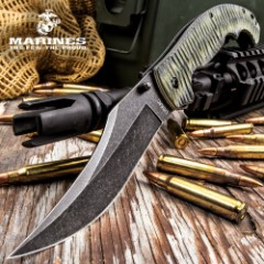 USMC Fallout Assisted Opening Tactical Pocket Knife – 3Cr13 Steel Blade, Grippy G10 Handle, Assisted Opening, Pocket Clip