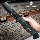 USMC Cleaver Maximum Assisted Opening Pocket Knife - Stainless Steel Blade, Non-Reflective, TPR Handle, Pocket Clip