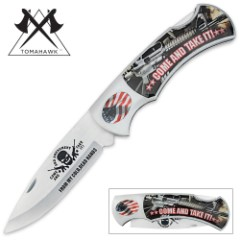 Come And Take It Second Amendment Monster Folder Knife