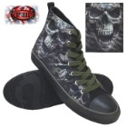 Camo-Skull Men's High-Tops – Lace-Up