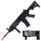 M4 Airsoft AEG Tactical Rifle - Full Metal Construction - Spring-Powered - Black