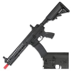 Multi-Mission Airsoft Tactical-Style Carbine Rifle - Black