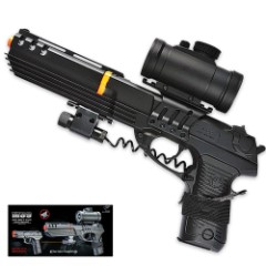 Double Eagle M39GL++ Spring Airsoft Pistol with Scope, Laser and Barrel Extension
