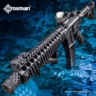 Crosman DPMS SBR Full Automatic Air Rifle - Nylon Fiber Stock, Steel Barrel, Quail Rail, Blowback, Folding BUIS Sights, 430 FPS