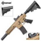 Bushmaster MPW Full-Auto With Red Dot Sight BB Rifle - Steel Barrel, Nylon Stock, Quad Rail Forearm, 25-Round Drop Magazine