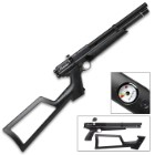 Benjamin .22 Marauder PCP Air Pistol - Rifled Steel Barrel, Synthetic Pistol Stock, Rotary Magazine, Dovetail Mounting Rail
