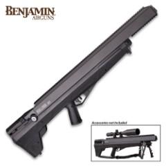 "Bulldog .357 PCP Multi-Shot Hunting Air Rifle – Rifled Steel Barrel, Fixed Bull Synthetic Stock, Five-Shot Magazine, Picatinny Rail – Length 36"""