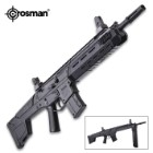 Crosman Bushmaster ACR Dual Ammo Air Rifle - .177 Caliber, Rifled Steel Barrel, Variable Pump, Bolt Action, Adjustable Sights, Picatinny Rails
