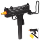 Double Eagle Spring Airsoft Uzi With Foldable Stock - ABS Polymer Construction, Adjustable Rear Sight And Hop-Up, 40-Round Magazine