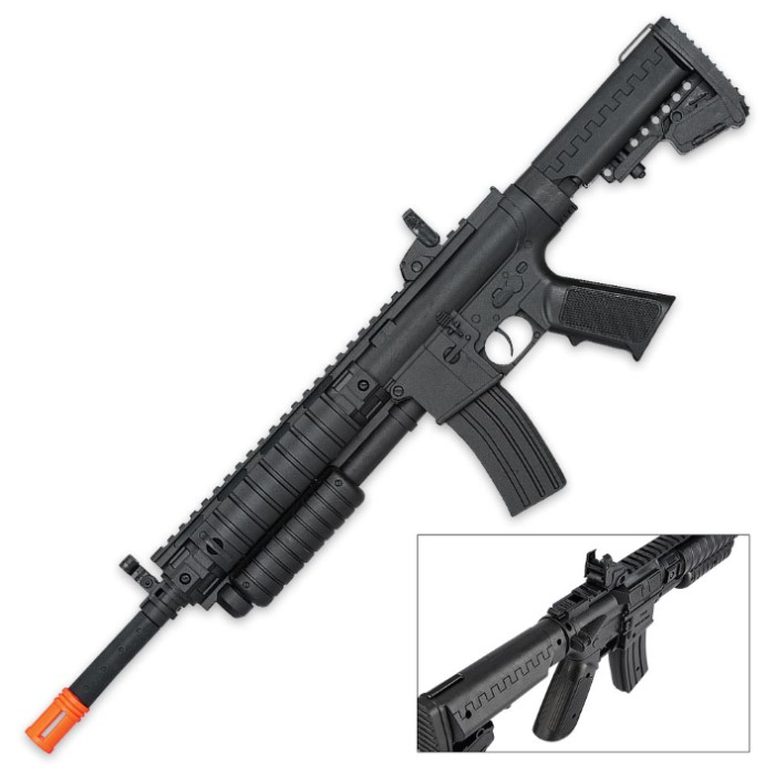 Spring Pump Action Tactical Airsoft Rifle with Sight and