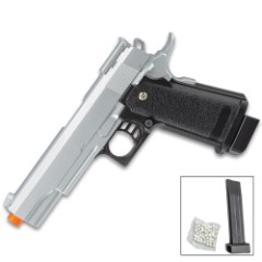"""UKArms G6S Spring Powered Airsoft Pistol - Metal Alloy Construction, ABS Grip, 280 FPS, Realistic Replica - Length 8"""""""