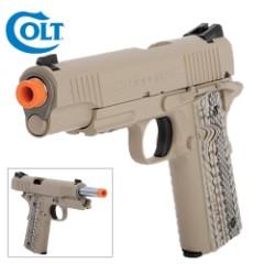 Colt M45A1 CO2 Fixed Metal Slide Pistol – Tan