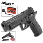 Sig Sauer P226 X-Five Blowback Airgun Pistol – .177 Caliber, Full Metal Construction, Single Or Double Action, 18-Round Magazine, Fixed Sights, 300 FPS