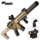 Sig Air MCX Flat Dark Earth Air Rifle With Micro Red Dot Sight - Synthetic Stock, 30-Round Pellet Magazine, 700 FPS - Length 34 3/4""