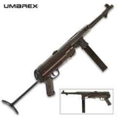 Umarex Legends MP40 BB Submachine Gun - German Gun Replica, Full Metal Construction, Polymer Grip, 52-Round Magazine