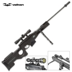 Valken Infiltrator .177 Caliber Tactical Pellet / Air Rifle with Scope and Bipod