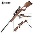 Titan Nitro Piston Powered Wooden Air Rifle With 4x32 Scope