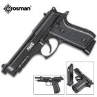 Crosman Full-Auto BB Pistol - Blowback Action, Full Metal Frame And Slide, 400 FPS, 20-Shot Magazine - Length 8 1/2""