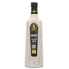 Lancer Tactical White ABS Airsoft BBs - 5,100-Count Bottle, .20g, 6mm, Competition Grade, Seamless, Preserves Airgun's Mechanisms