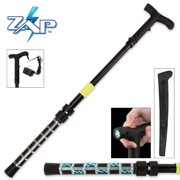 Zap Self Defense Cane with Flashlight