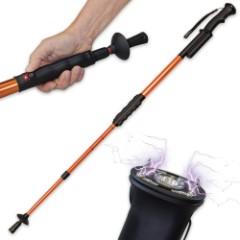 Hike N Strike Hiking Staff Stun Gun Flashlight Walking Cane